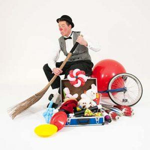 Clown voor Allround Feest Kindershow inhuren boeken.