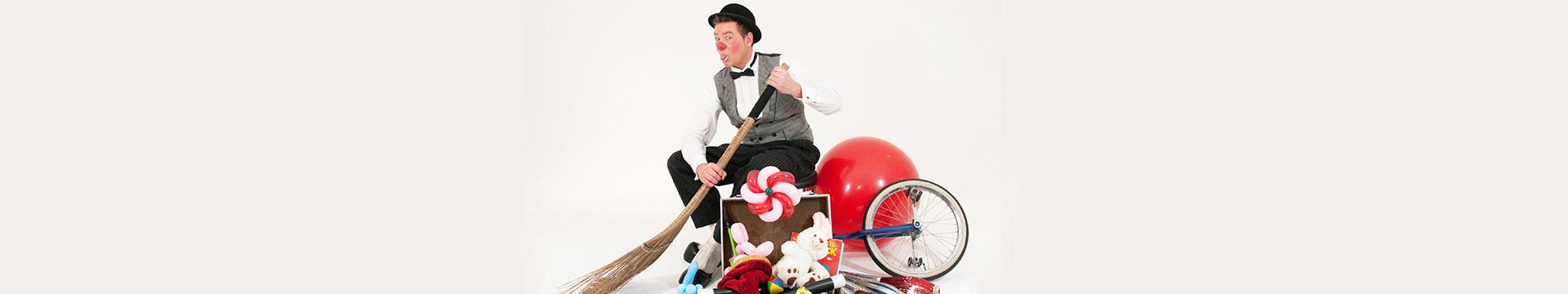 Kindershow met Clown Lex te boeken bij Clown.nl